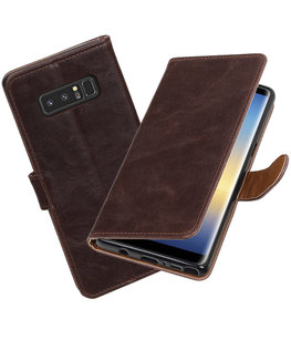 Hoesje voor Samsung Galaxy Note 8 Pull-Up booktype mocca