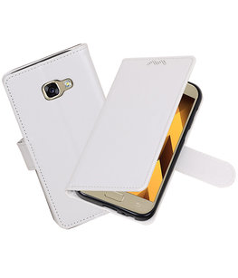 Wit Portemonnee booktype Hoesje voor Samsung Galaxy A3 2017 A320