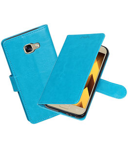 Turquoise Portemonnee booktype Hoesje voor Samsung Galaxy A3 2017 A320