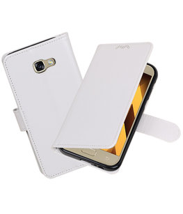 Wit Portemonnee booktype Hoesje voor Samsung Galaxy A5 2017 A520