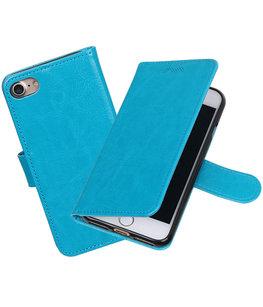 Turquoise Portemonnee booktype Hoesje voor Apple iPhone 7 / 8