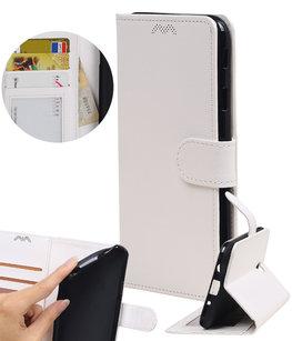 Wit Portemonnee booktype Hoesje voor Huawei Y7 / Y7 Prime