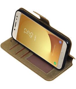 Goud Hoesje voor Samsung Galaxy J5 2017 TPU wallet case booktype HM Book