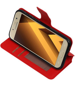 Rood Hoesje voor Samsung Galaxy A3 2017 TPU wallet case booktype HM Book