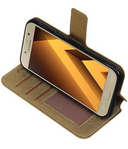 Goud Hoesje voor Samsung Galaxy A5 2017 TPU wallet case booktype HM Book