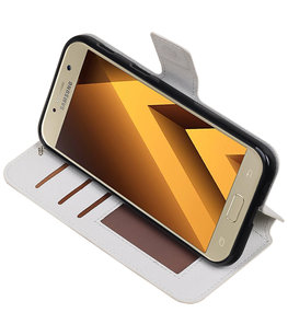 Wit Hoesje voor Samsung Galaxy A5 2017 TPU wallet case booktype HM Book