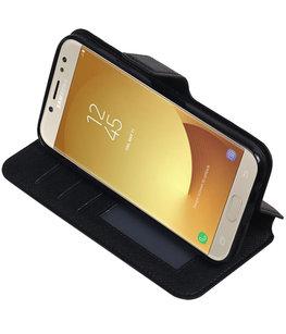 Zwart Hoesje voor Samsung Galaxy J5 2017 TPU wallet case booktype HM Book