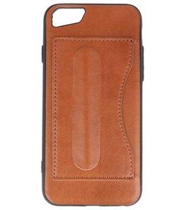 Hoesje voor Apple iPhone 7 / 8 Stand TPU back case Bruin