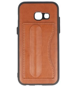 Hoesje voor Samsung Galaxy A3 2017 Stand TPU back case Bruin