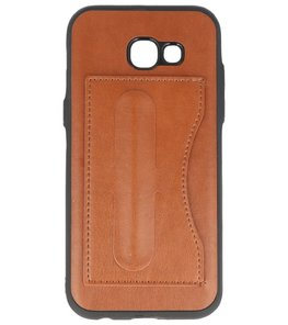 Hoesje voor Samsung Galaxy A5 2017 Stand TPU back case Bruin