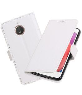 Wit Portemonnee booktype Hoesje voor Motorola Moto E4 Plus