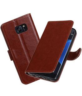 Bruin Portemonnee booktype Hoesje voor Samsung Galaxy S7 Edge G935F