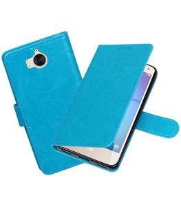 Turquoise Portemonnee booktype Hoesje voor Huawei Y5 2017 / Y6 2017