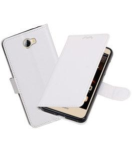 Wit Portemonnee booktype Hoesje voor Huawei Y5 II / Y6 II Compact