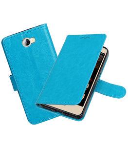 Turquoise Portemonnee booktype Hoesje voor Huawei Y5 II / Y6 II Compact