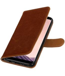 Hoesje voor Samsung Galaxy J5 2017 J530F Pull-Up booktype bruin