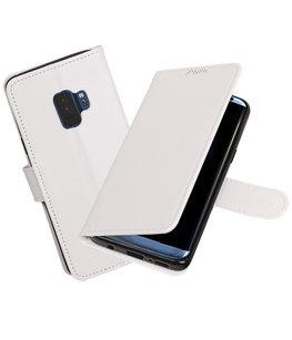 Wit Portemonnee booktype Hoesje voor Samsung Galaxy S9
