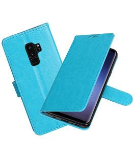 Turquoise Portemonnee booktype Hoesje voor Samsung Galaxy S9 Plus