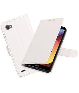 Wit Portemonnee booktype Hoesje voor LG Q6