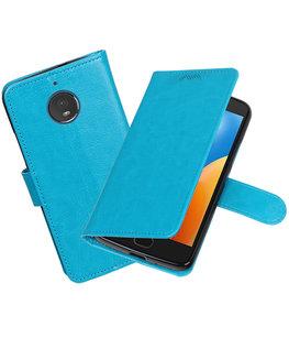 Turquoise Portemonnee booktype Hoesje voor Motorola Moto E4