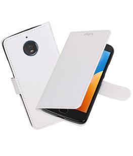 Wit Portemonnee booktype Hoesje voor Motorola Moto E4