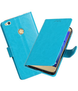 Turquoise Portemonnee booktype Hoesje voor Huawei P8 Lite 2017 /  P9 Lite 2017