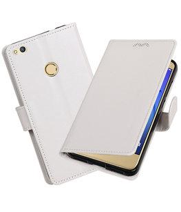 Wit Portemonnee booktype Hoesje voor Huawei P8 Lite 2017 / P9 Lite 2017
