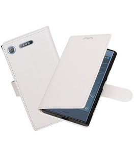 Wit Portemonnee booktype Hoesje voor Sony Xperia XZ1