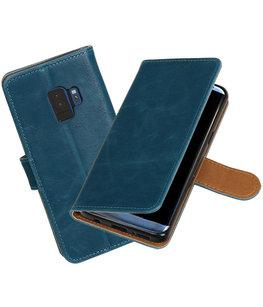 Hoesje voor Samsung Galaxy S9 Pull-Up booktype blauw