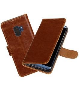 Hoesje voor Samsung Galaxy S9 Pull-Up booktype bruin