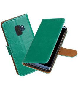 Hoesje voor Samsung Galaxy S9 Pull-Up booktype groen