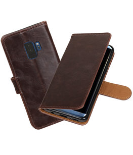 Hoesje voor Samsung Galaxy S9 Pull-Up booktype mocca