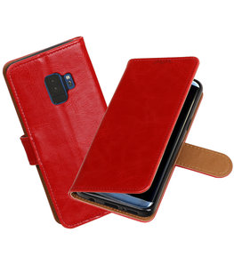 Hoesje voor Samsung Galaxy S9 Pull-Up booktype rood