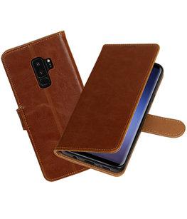 Hoesje voor Samsung Galaxy S9 Plus Pull-Up booktype bruin