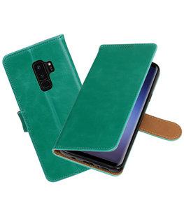 Hoesje voor Samsung Galaxy S9 Plus Pull-Up booktype groen