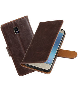 Hoesje voor Samsung Galaxy J3 2017 J330F Pull-Up booktype mocca