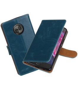 Hoesje voor Motorola Moto X4 Pull-Up booktype blauw