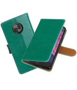 Hoesje voor Motorola Moto X4 Pull-Up booktype groen