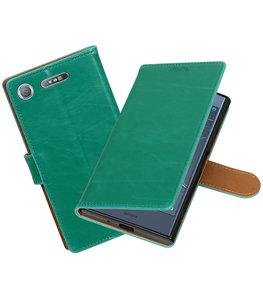 Hoesje voor Sony Xperia XZ1 Pull-Up booktype groen