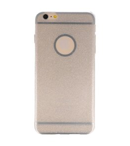 Hoesje voor Apple iPhone 6 / 6s Plus Bling TPU back case Zilver