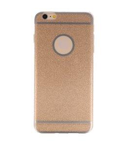 Hoesje voor Apple iPhone 6 / 6s Plus Bling TPU back case Goud