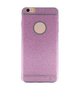Hoesje voor Apple iPhone 6 / 6s Plus Bling TPU back case Hotpink