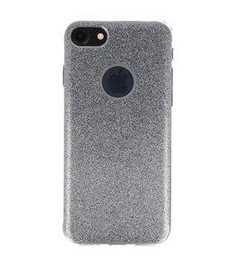 Hoesje voor Apple iPhone 7 / 8 Bling TPU back case Zilver