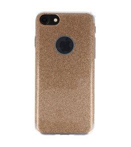 Hoesje voor Apple iPhone 7 / 8 Bling TPU back case Goud