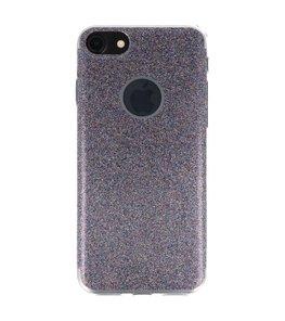 Hoesje voor Apple iPhone 7 / 8 Bling TPU back case Paars