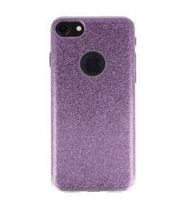 Hoesje voor Apple iPhone 7 / 8 Bling TPU back case Hotpink