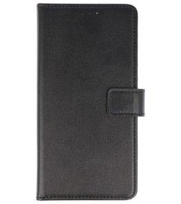 Zwart booktype wallet case Hoesje voor Huawei P Smart