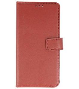 Bruin booktype wallet case Hoesje voor Huawei P Smart