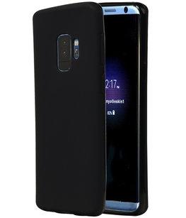 Zwart TPU back case cover Hoesje voor Samsung Galaxy S9