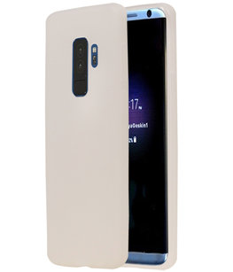 Wit TPU back case cover Hoesje voor Samsung Galaxy S9